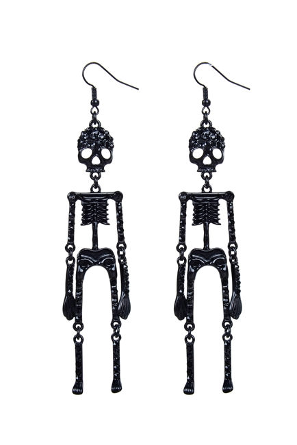Skull and Crystal Earring E1897