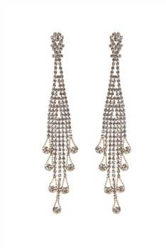 Fashion Tassel Rhinestone Long Earrings E1948