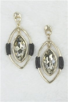 Crystal Earrings E1962 - Gold