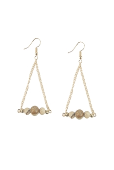 Fashion Stone Beaded Drop Earrings E2016