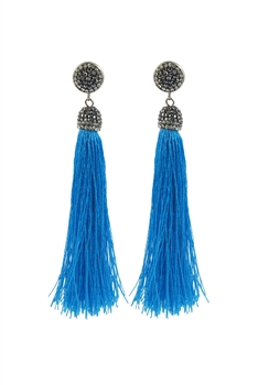 Tassels Cotton Crystal Metal E2049