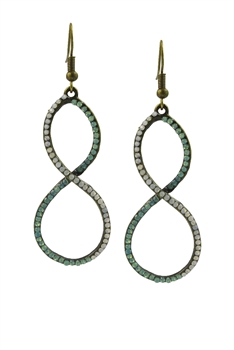 Retro Number Eight Crystal Earrings E2056