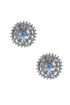 Woman Luxurious Crystal Earrings E2062 - AB