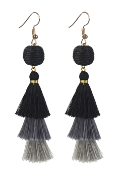 Women Fashion Vintage Long Tassel Drop Earrings E2064