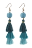 Women Fashion Vintage Long Tassel Drop Earrings E2064 - Blue