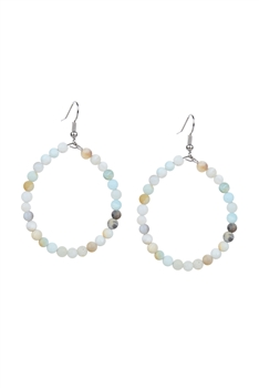 Stone Drop Earrings E2098 - Amazonite