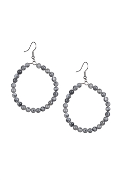 Stone Drop Earrings E2098 - Atlas Jasper