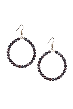 Stone Drop Earrings E2098 - Breciated Jasper