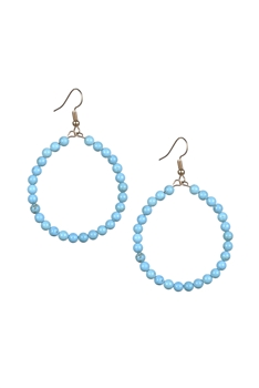 Stone Drop Earrings E2098 - Crack Turquoise