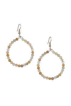 Stone Drop Earrings E2098 - Golden Jade