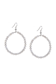 Stone Drop Earrings E2098 - Grey Agate