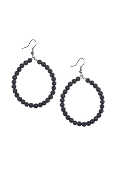 Stone Drop Earrings E2098 - Lava