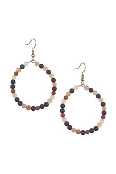 Stone Drop Earrings E2098 - Muddy Stone
