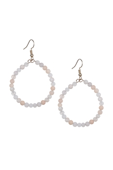 Stone Drop Earrings E2098 - Pink Aventurine
