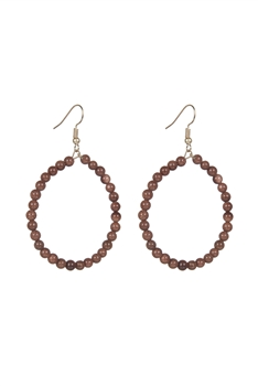 Stone Drop Earrings E2098 - Red Gold Sandstone
