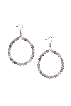 Stone Drop Earrings E2098 - Rhodonite