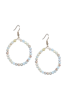 Stone Drop Earrings E2098 - SHOUSHAN Stone