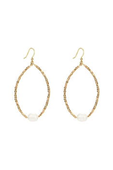Fashion White Pearl Crystal Statement Earrings E2119