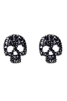 Fashion Halloween Crystal Skull Stud Earrings E2142