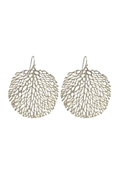 Fashion Women Leaves Pattern Metal Drop Earrings E2150