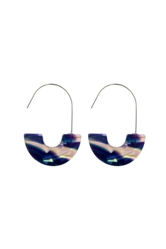 New Design Half Hoop Tortoiseshell Earrings E2157