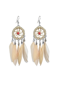 Bohemian Ethnic Women Feather Drop Earrings E2165