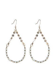 Bohemian Chain Stitching Crystal Earrings E2171 - Grey