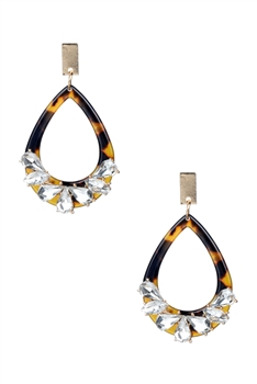 Crystal Hoop Drop Earrings E2185
