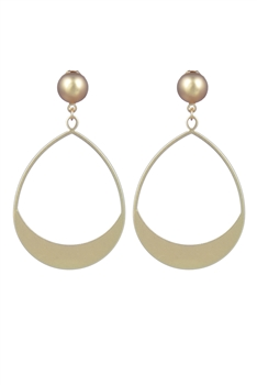 Fashion Silver Gold Plated Metal Hoop Earrings E2186