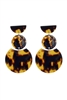 Fashion Women Brown Tortoiseshell Earrings E2195