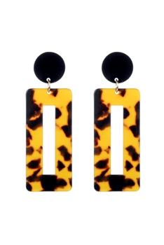 Fashion Women Square Tortoiseshell Earrings E2196