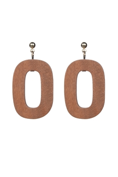 Fashion Bohemian Women Wood Hoop Stud Earrings E2201