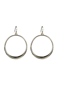 Creative Design Women Metal Hoop Earrings E2227