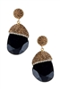 Cymophane Gemstone Earrings E2234-Black