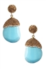Fashion Luxurious Crystal Gemstone Statement Earrings E2234 - Blue