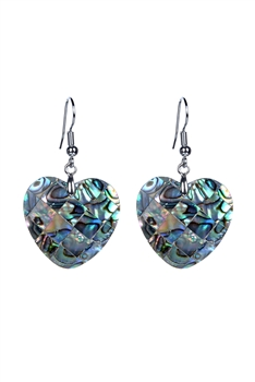 Fashion Heart Shaped Mother of Pearl Earrings E2267