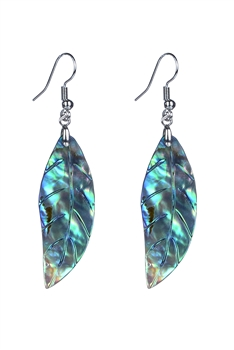 Fashion Leaf Pattern Mother of Pearl Earrings E2270