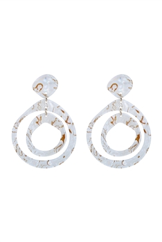 Special Hoop Tortoiseshell Earrings E2279