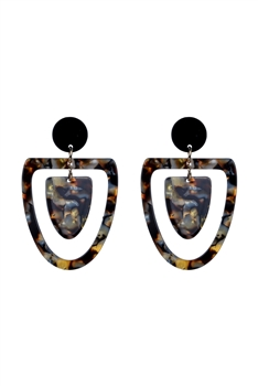 Special Tortoiseshell Statement Earrings E2281