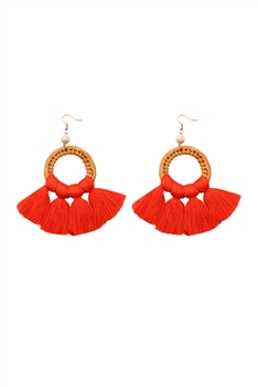 Bohemian Women Silk Tassel Earrings E2289