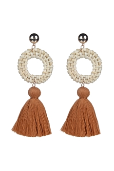 Bohemian Women Tassel Stud Earrings E2290