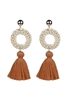 Bohemian Women Tassel Stud Earrings E2290 - Champagne