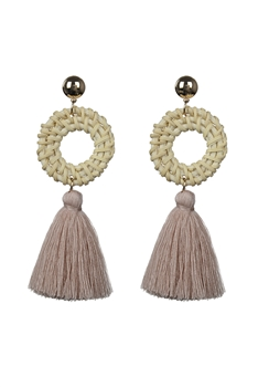 Bohemian Women Tassel Stud Earrings E2290 - Pink