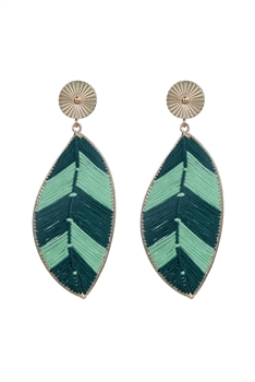 Fashion Leaf Shaped Statement Earrings E2293