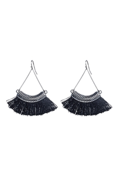 Bohemian Tassel Drop Earrings E2298 - Black