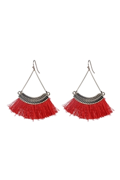 Bohemian Tassel Drop Earrings E2298 - Red