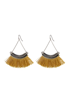 Bohemian Tassel Drop Earrings E2298 - Yellow