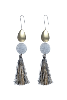 Fashion Women Tassel Metal Drop Earrings E2300