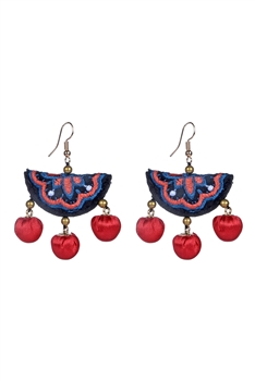 Bohemian Textile Earrings E2303