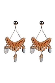 New Design Shell Dangle Stud Statement Earrings E2308